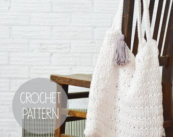 crochet pattern - boho beach tote - the Folly Tote