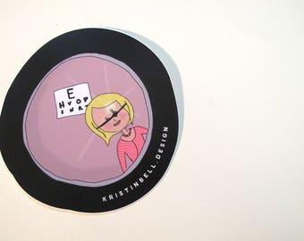 Let's Go to The Eye Doctor Vinyl Die Cut Sticker