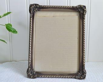 Ornate photo table frame , vintage Swedish 50s picture holder, home decoration