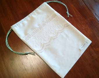 AnnaBelle Lace Drawstring Bag