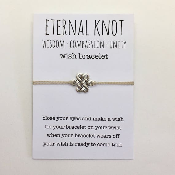 wish bracelet, eternal knot bracelet, friendship bracelet, boho style