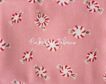 PRESALE - Sugarplum - Peppermint in Pink - Heather Ross for Windham Fabrics - 50167-6 - 1/2 Yard