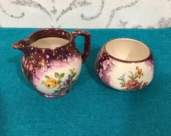 Grays Pottery England, sugar & creamer