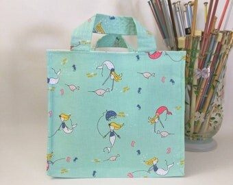 Medium Nest Basket with Organizer Pockets - Under the Sea