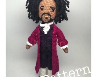 Thomas Jefferson Hamilton Musical Amigurumi Crochet doll Pattern