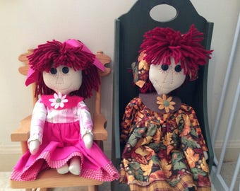 Primitive Autumn and Eve Ragdolls by Sew Practical, Mom and Pop Craft