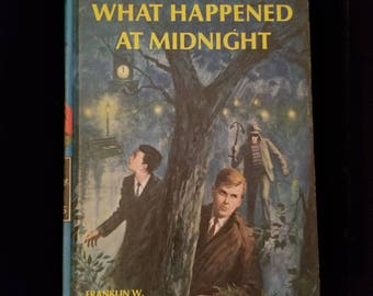 Vintage 1954 Hardy Boys What Happened at Midnight #10