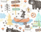 Snuggle Flannel Fabric - Camping Mix - Sold by the Yard