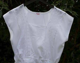 vintage cotton camisole with broderie anglaise detail.