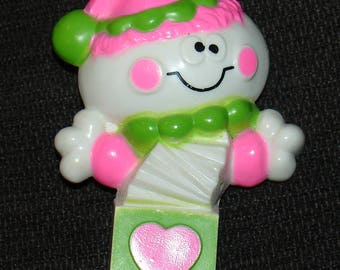 Vintage 1976 Avon Jack in the Box Pin Pal Solid Fragrance Glace Clown pin brooch - CUTE!