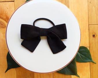 Hair tie bow.