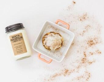 Iced Cinnabuns | Handmade Soy Wax Candle | 8 oz. Mason Jar Candle | North Mountain Candle Co.