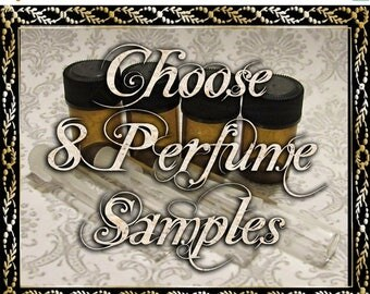 SALE Perfume Oil Samples: Choose Eight (8) 1mL or 2mL Samples, Cologne Oil, Artisan Fragrance, Alcohol Free, Ships Out in 5-7 Days