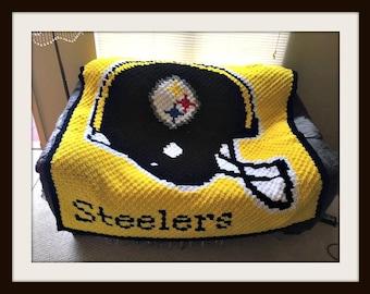 Pittsburgh Steelers Afghan, C2C Graph, Pittsburgh Steelers C2C Graph