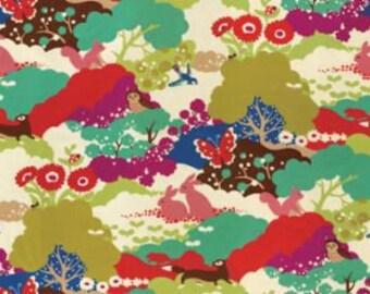 Lucky Day by Momo for Moda - Happy Habitat - Cream - 1/2 Yard Cotton Quilt Fabric 817