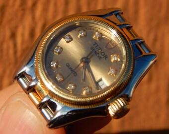 Beautiful,Ladies 18k-S.S Rolex TUDOR Monarch Date 15833 Watch Diamond Dial