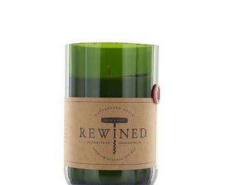 Rewined - Signature Merlot - Repurposed Wine Bottle - 11 oz Soy Wax Candle