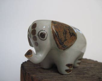 Vintage Ken Edwards Tonala Pottery Elephant
