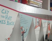 Cat in the Hat Comes Back Book Bunting// Dr Seuss Party decor