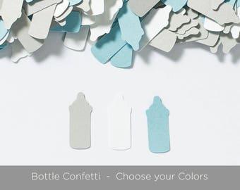 Bottle Baby Shower Confetti, Baby Shower Decoration, Bottle Confetti, Choose Colors