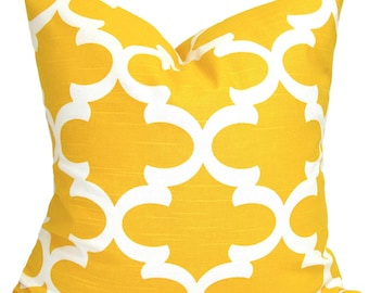 Yellow Pillow, Yellow Pillows, 16x16. Yellow Pillow Cover, Decorative Pillow, Yellow Throw Pillow, All Sizes, Yellow Euro, Yellow Cushion
