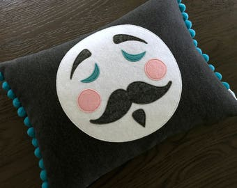 Man in the Moon Cushion Pillow Nursery Bedroom