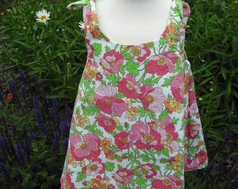 Child's REVERSIBLE sundress with coordinating headband.  100% cotton. Size 3.