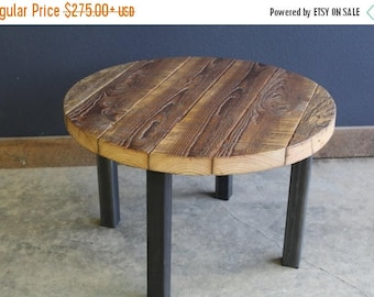 Limited Time Sale 10% OFF Round Table. Straight steel legs. Choose size and height.
