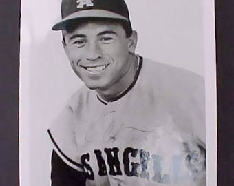 Vintage 1960's Photograph of Los Angeles Angels Player Albie Pearson