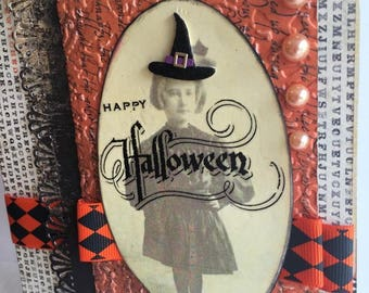 Happy Halloween~~~  A Little Bit Witchy~~~~ Cute Little Dwarf Witch~~~ Black and Orange~~~
