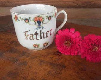 Vintage Father Coffee Cup Japan Made