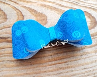 Blue Baby Bow, Boutique Bow, Blue Bow, Fancy Bow, Girls Bow, Baby Headband