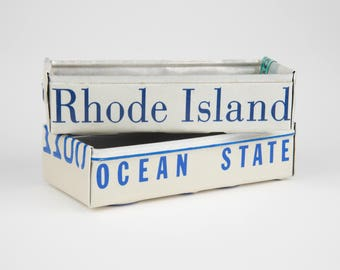 Rhode Island license plate box - father's day gift - gift for mom's dad's and grad's - teacher gift - graduation gift - graduation gift box