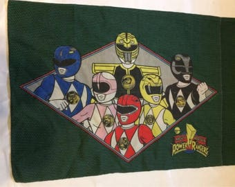 Vintage Power Rangers Mighty Morphin Pillowcase Saban 1990's