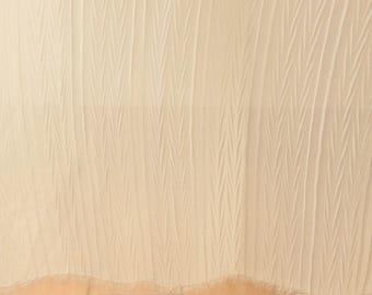 Off White Chiffon Gauze Fabric Sold by Half Metre MJ760
