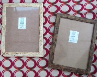 """Rustic/driftwood style frames in locally sourced,recycled wood in clear & medium dark beeswax finish.To fit 12""""x16"""""""