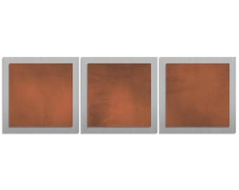 Metal Wall Artwork 'Rusty Essence' - 38x12 in. - Contemporary Décor - Modern Silver & Rust Colored Decor