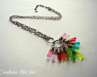 Sautoir ''Brite-Lite'' //  Lite-brite necklace recycled