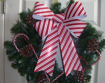 Christmas Wreath 26 in candy cane design