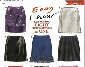 25% OFF New Look 6789 Easy 1 Hour Skirt Pattern, Eight Options, Misses Size 6-16, UNCUT