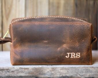 Custom Groomsmen Gift, Leather Dopp Kit, Leather Shaving Kit, Leather Toiletry Bag, Mens Toiletry Bag, Lifetime Leather Co, Wedding Gifts ##
