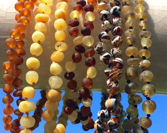Baltic Amber teething necklaces for baby and toddler