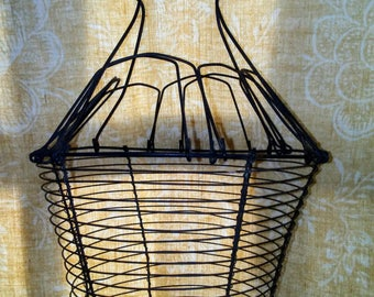 Antique French Wire Egg Basket/French decor/ French kitchen/ French country