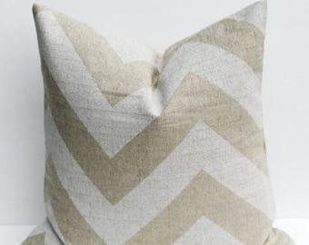 15% Off Sale Pillows Throw Pillow Covers Chevron Pillow ONE 20 x 20 Pillow Cover  Accent pillowsBurlap Pillow Cover HouseWares Printed Fabri