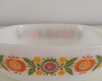 Vintage Jena milk glass bowl Schott Mainz retro glass bowl