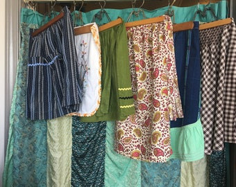 Lot of 6 Vintage Aprons