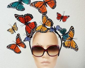 Multicolor Butterfly Headdress
