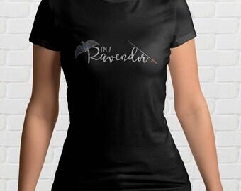 I'm A RAVENDOR Ladies T-Shirt | Ravenclaw and Gryffindor | Harry Potter Gift