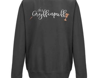 I'm A GRYFFINPUFF UNISEX JUMPER | Harry Potter Lovers Gift | Funny Mixed House Jumper