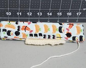 sushi DPN holder, knitting needle case, DPN case, double pointed needle holder, knitting needle cozy, DPN holder